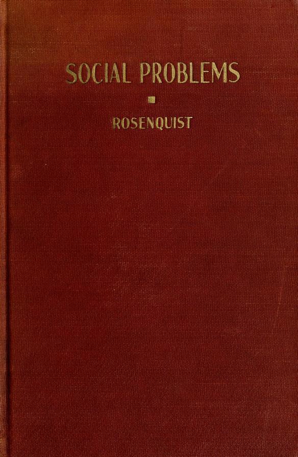 Social problems by Carl M. Rosenquist